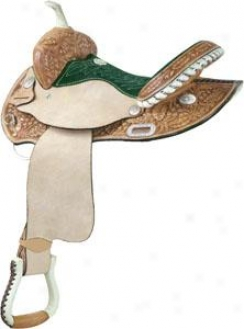 Saddlesmith Of Texas Holly Race-horse Round Skirt Saddle - Rich Natural Gold - 15