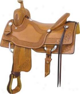 Saddlesmith Of Texas Laramie Saddle - Pecan - 16.5