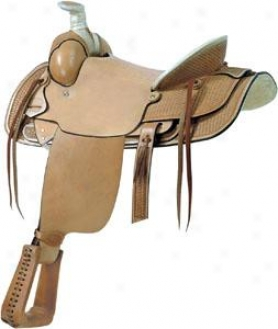 Saddlesmith Of Texas Santa Fe Rancher Saddle - Natural Gold - 15.5