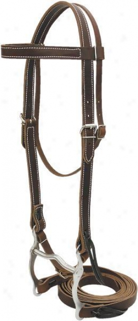 Saddlesmith Of Texas Working Bridle - Burgundy Latigo - Horse