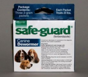 Safe-guard Canine Dewormer - Blue