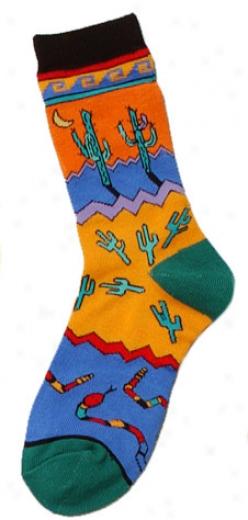 Saguaro Madness Fashion Socks - Child 5-7