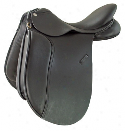 Saint Lourdes Magnus Lord Dressage Saddle - Rich Black Leather - 16 X-wide