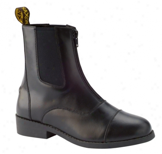 Saxon Equileather Zip Up Paddock Boot Cholds