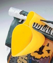 Scoop-n-fill Race Scooper For Bird Seed - Yellow