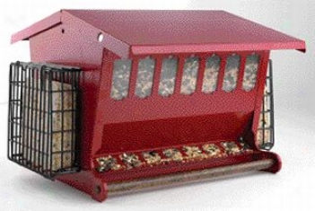 Seeds-n-more Feeder For Birds - Red - 2.5gallon