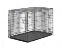 Select Triple Door Dog Crate - Gray - 42x28x30 Inch