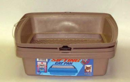 Sifting Cat Litter Pan With Frame - Assorted - 19 X 15 1/8 X 4 1/4