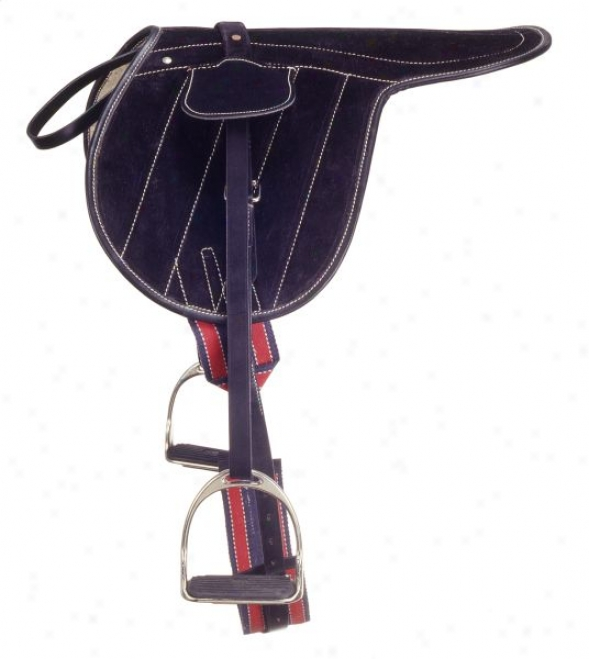 Silver Fox Suede Exercise Saddle - Brown