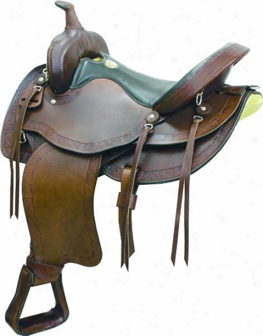 Simco Rusty Taylor Qh Trail Saddle - Show Walnut - 17