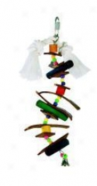 Skewer/wood Bird Toy - Multicolor - Small