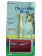 Slicker Wire Brush - Brown And Red - Large