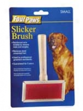 Slicker Wire Brush - Brwon And Red - Small