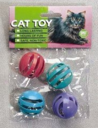 Slotted Balls Cat Toy - Assorted