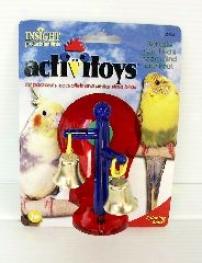 Spinning Bells Toy For Birds - Multicolir