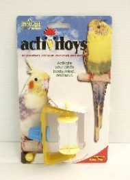 Spinning Mirrors Toy For Birds - Golden