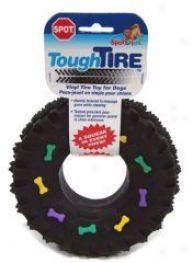 Squeaky Vinyl Tire - Black - Inch
