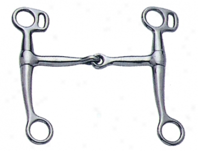 Sta-brite Nickel Plated Tom Thumb Snaffle - Nickel Plated - 5