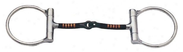 Sta-brite Ss D Ring Snaffle With Copper Inlay - Stainless Knife - 5