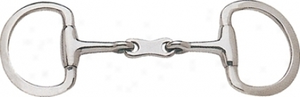 Sta-brite Stainless Steel French Link Eggbutt Snaffle - Stainlss Steel - 5