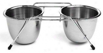 Stainless Steel Double Dog Diner - Stainless Steel