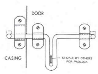 Stall House Latch - Stainless Harden - 10 Inch