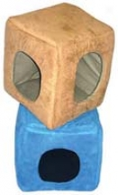 Suede Kitty Cubbyhole - Assorted - 15 Inch