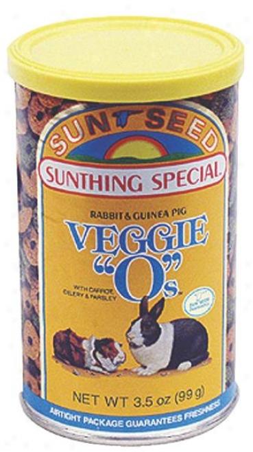 Sunseed Veggie O's Treat For Rabbi5s - 3.5 Oz