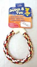 Super 8 100% Cotton Tug Dog Toy - Multicolor - Medium