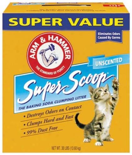 Super Scoop Cat Litter Unscented - 28 Im~