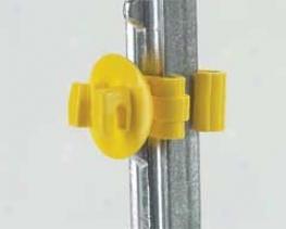Super Snug T-post Insulator - Yellow - 25 Pack
