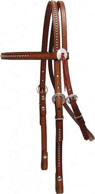 Tex aTn Browband Headstall - Pecan - Horse