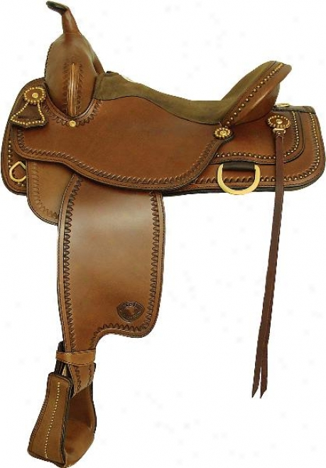 Tex Tan Hereford Brass Spot Trail Saddle - Regular Tree