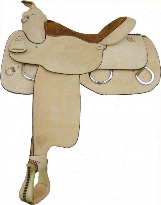 Tex Tan Hereford Trainer Saddle - Roughout - 16