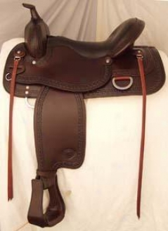 Textan Hereford Chathem Pleasure Saddle - Chocolate - 16