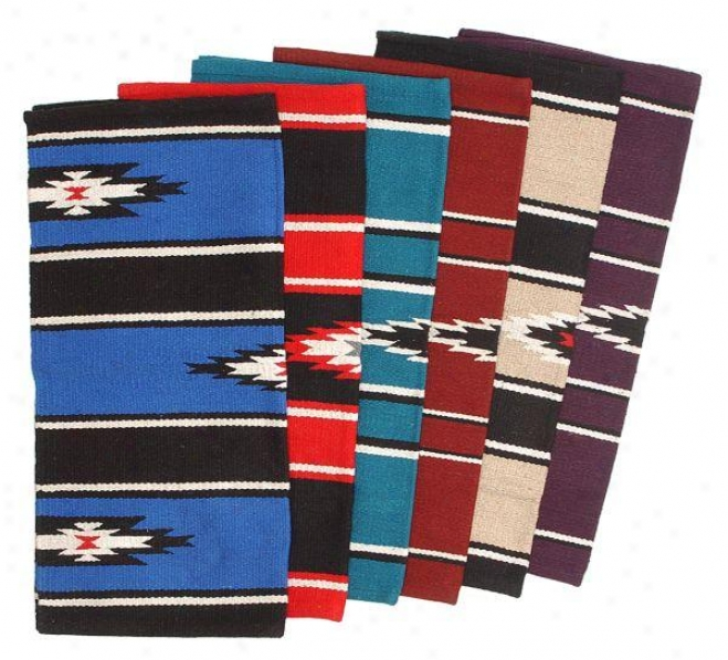 Tough-1 55% Wool Sierra Saddle Blanket - Red/black/cream