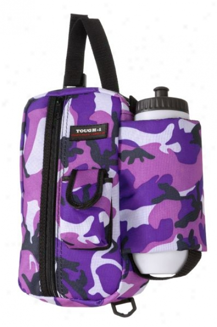 Tough-1 Camo Water Bottle With Zipper Pouch