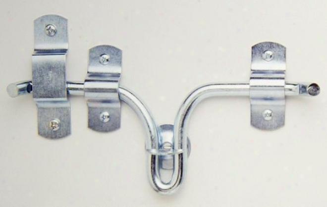 Tough-1 Heavy Duty Door/stall Gate Latch - Silver