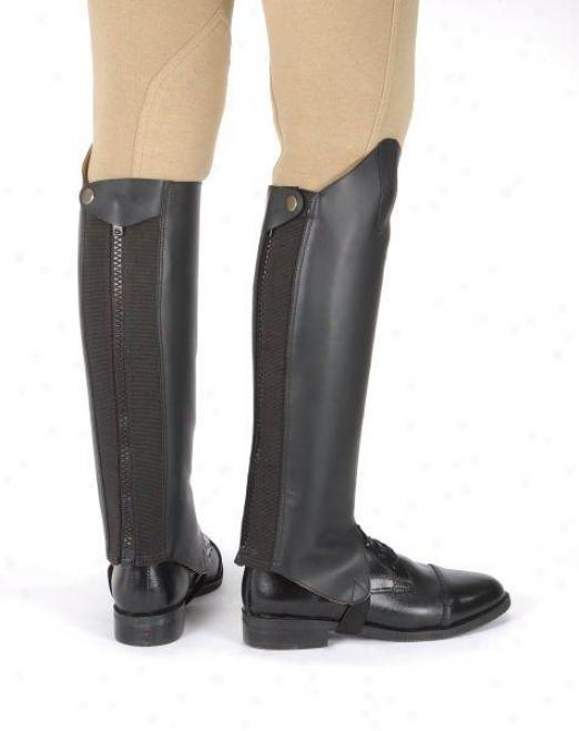 Tough-1 Leather English Half Chaps