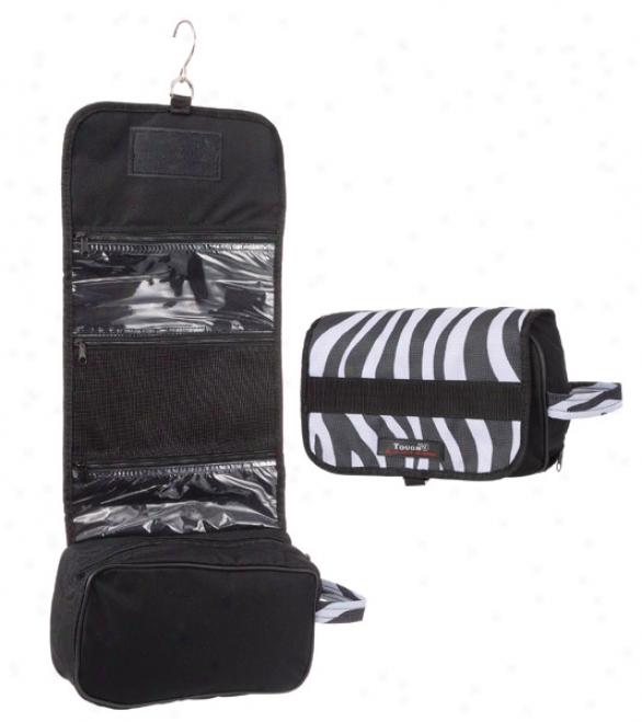 Tough-1 Print Roll-up Accessory Bag - Zebra