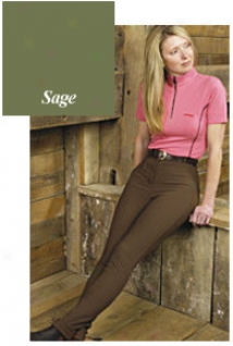Tuffrider First-rate work  Front Zip Jodphurrs - Sage - Ladies 26 oLng