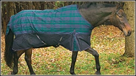 Tuffrider Fleece Lined Pony Turnout Plaid Sheet 600 D
