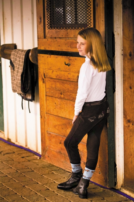 Tuffrider Lowrise Embroidered Corduroy Breech Kidw
