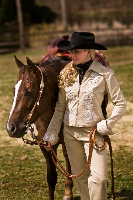 Tuffrider Western Show Jacket With Embroidery