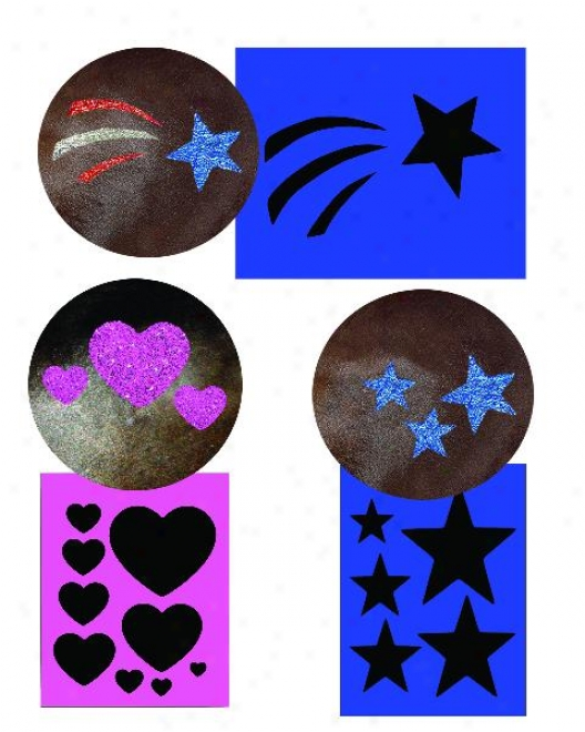 Twinkle 3-in-1 Stencil Kit - Assorted Colors