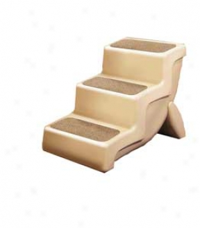 Ultra Light Pet Stairs For Vehicles And Furniture - Tan - Medium