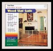 Verticle Wood Slat Pet Gate - Brown