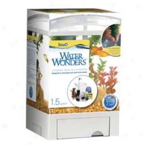 Water Wonders Aquarium Cube 2 - Black - 1.5 Gallon