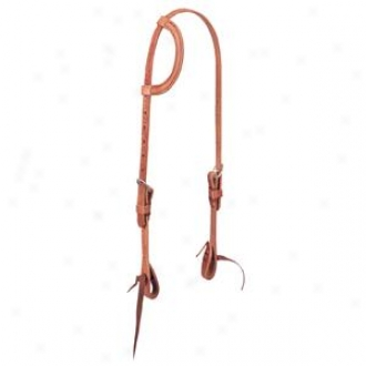 Weaver Barbed Wire Flat Sliding Ear Headstall - Russet - Horse