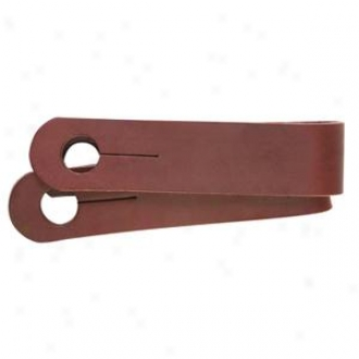 Weaver Basic Single-ply Latigo Leather Slobber Straps - Burgundy